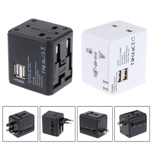 World Travel Adaptor with 2 USB Hub