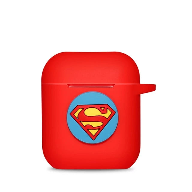 Coque Airpod System Superman Rouge