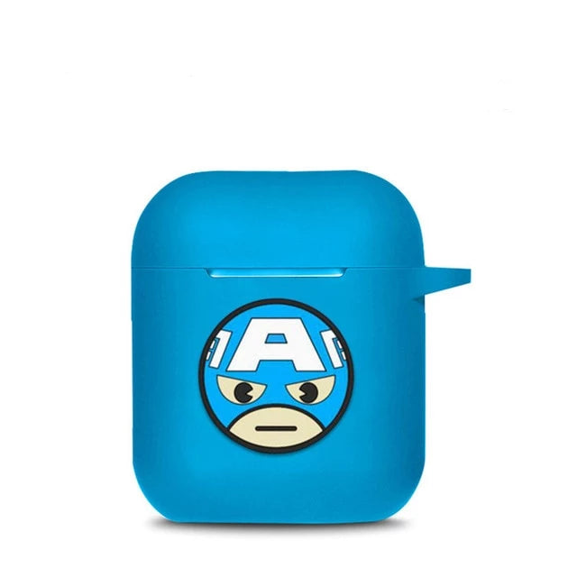 Coque Airpod System Captain America Bleue