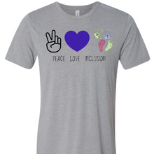Load image into Gallery viewer, Peace Love Inclusion Tee Adult