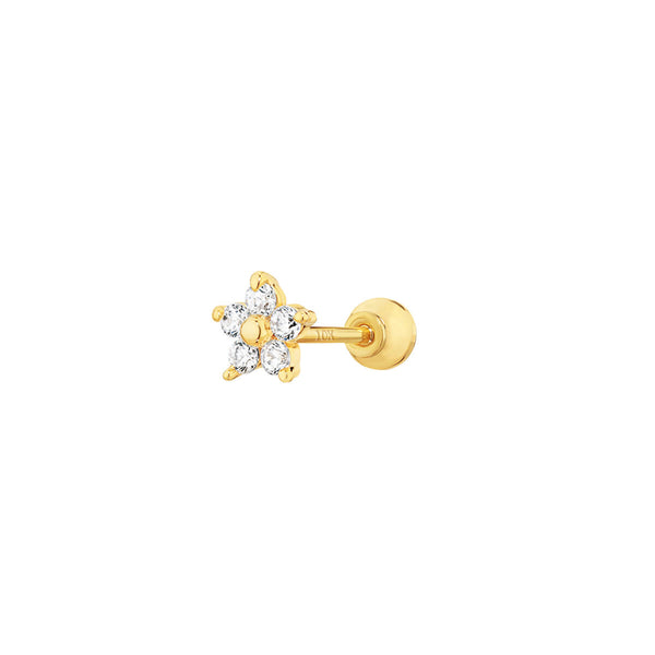 10K Teeny Flower Barbell