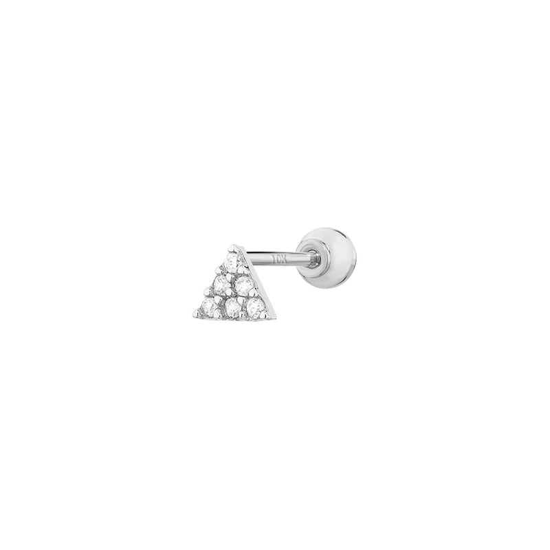 9K Studded Triangle Barbell
