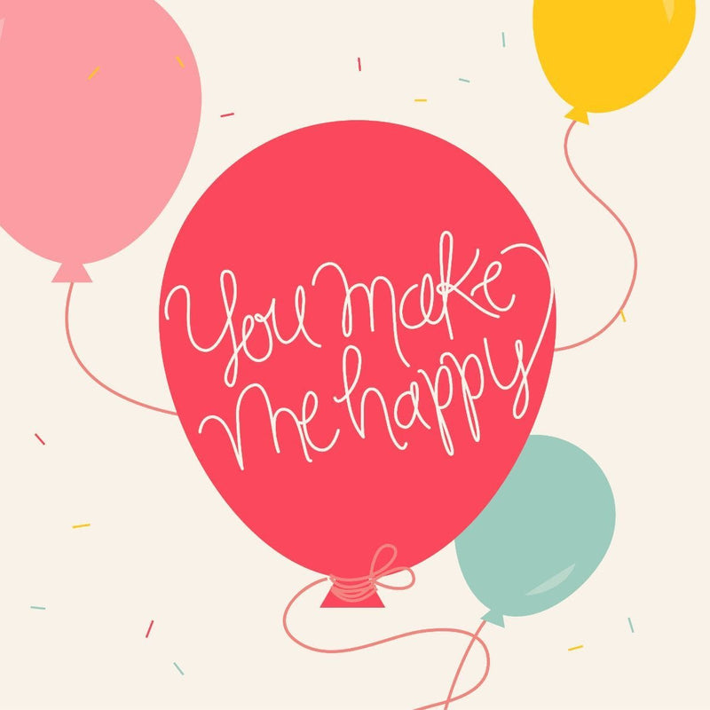 You Make Me Happy Card - card - With Bling - M0010