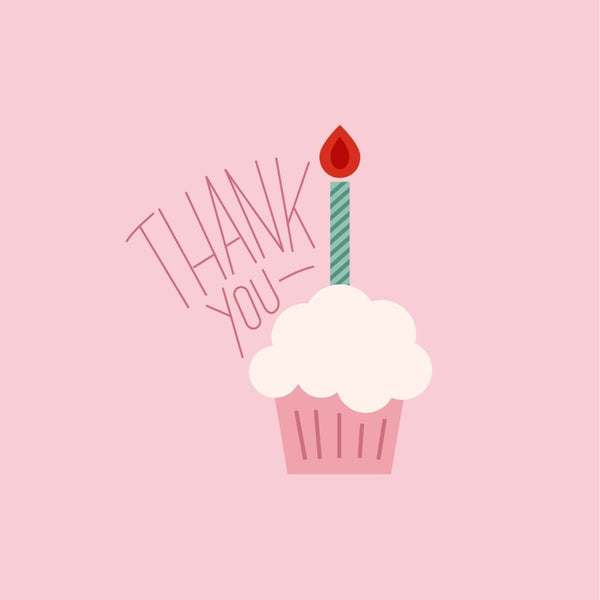 Thankyou Card - card - With Bling - M0013