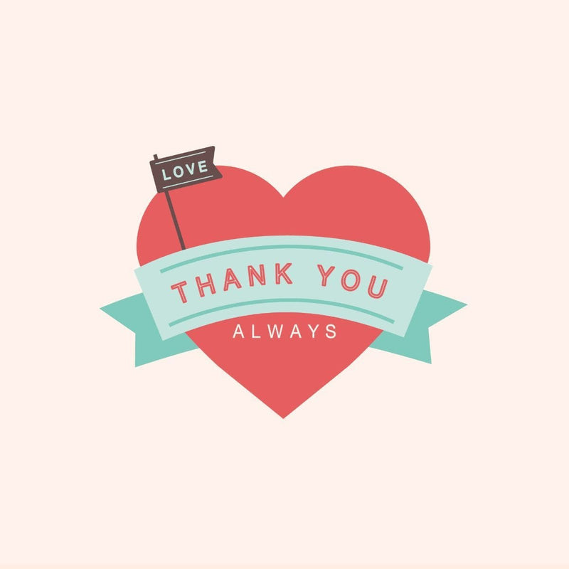 Thankyou Card - card - With Bling - M0019
