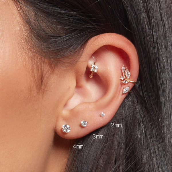 Simple CZ Stud Earrings