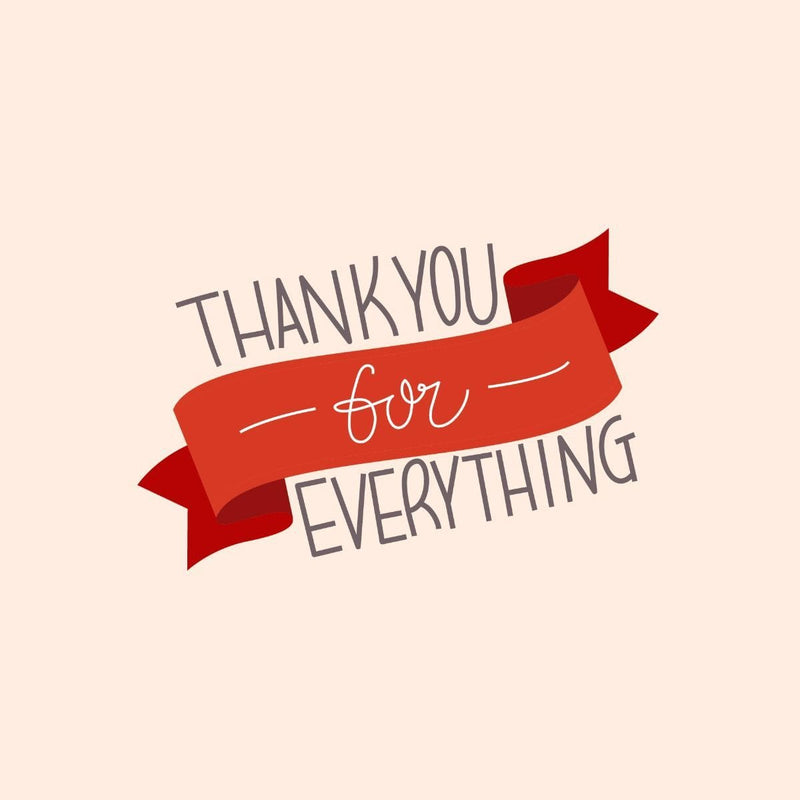Thankyou Card - card - With Bling - M0022