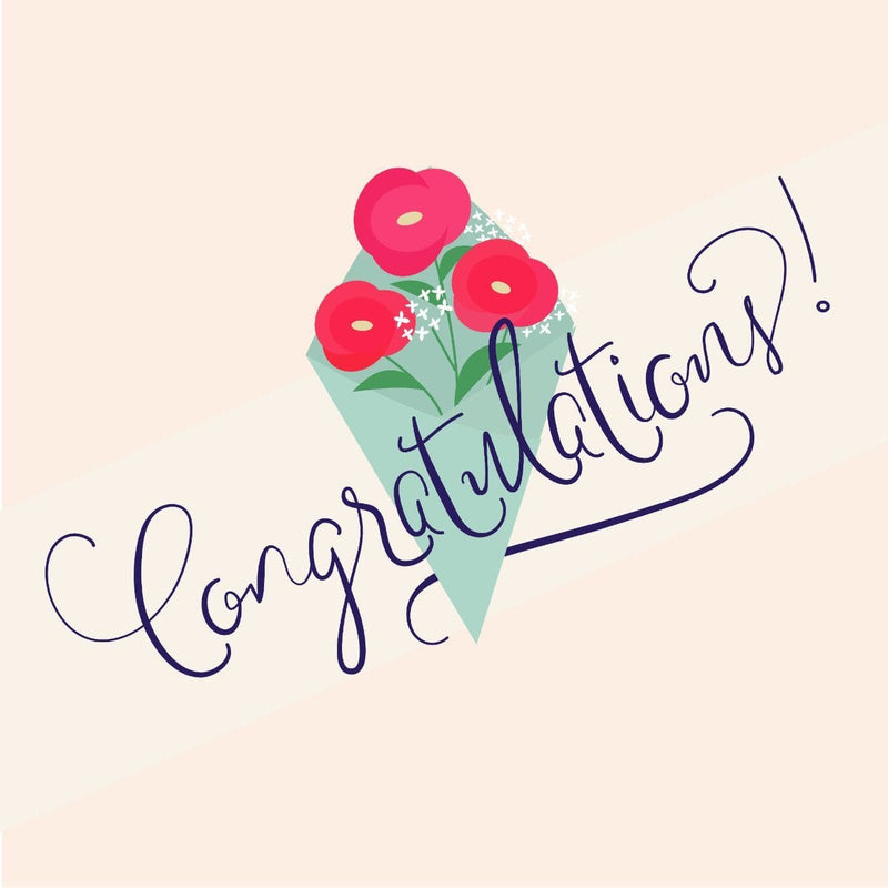 Congratulations Card - card - With Bling - M0023