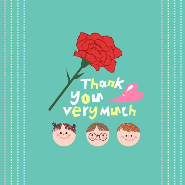 Thankyou Card - card - With Bling - M0029