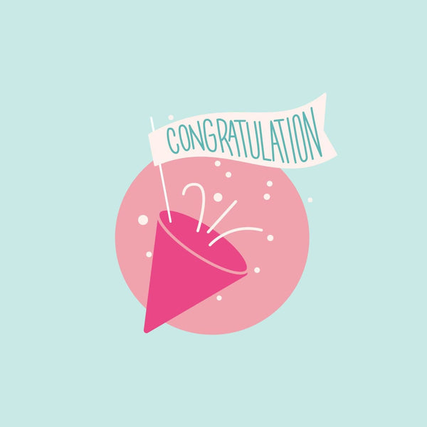 Congratulations Card - card - With Bling - M0030