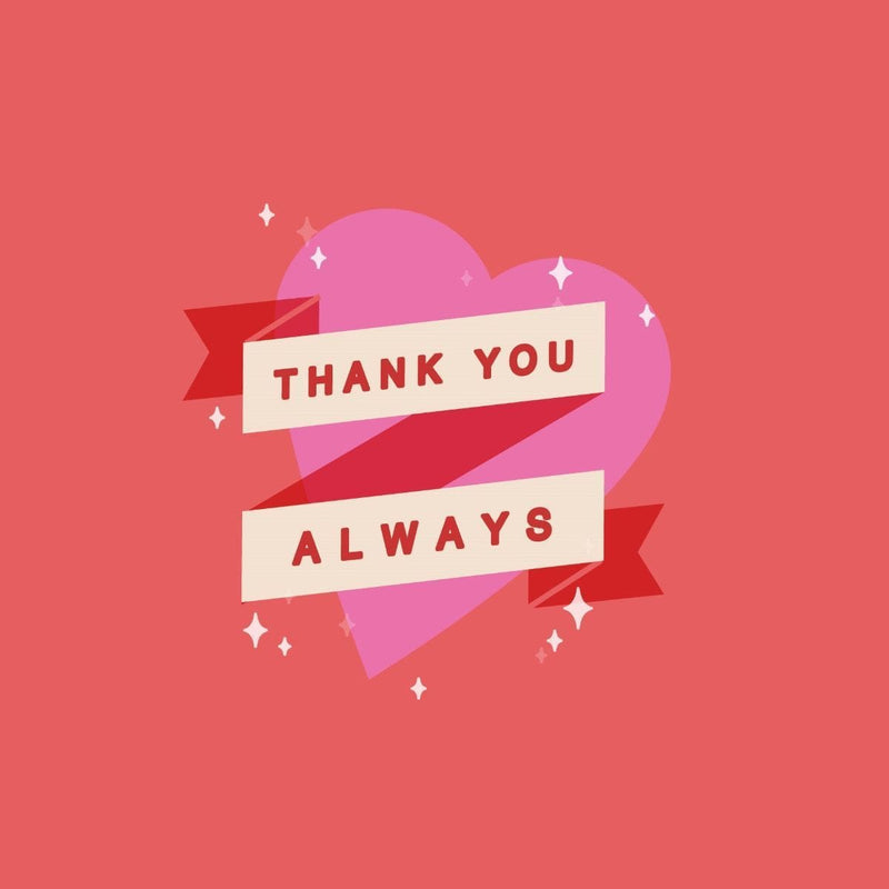 Thankyou Card - card - With Bling - M0003