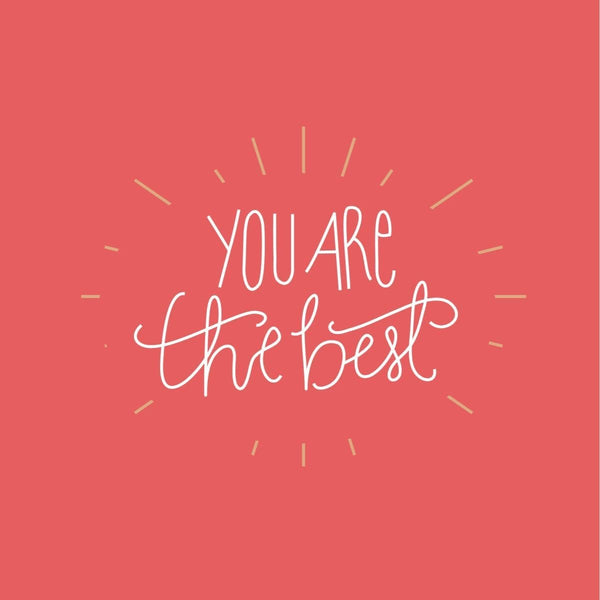 You are the Best Card - card - With Bling - M0005
