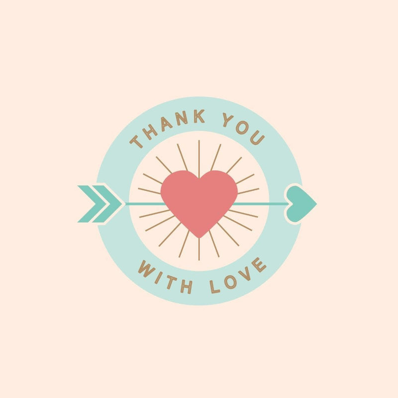 Thankyou Card - card - With Bling - M0008