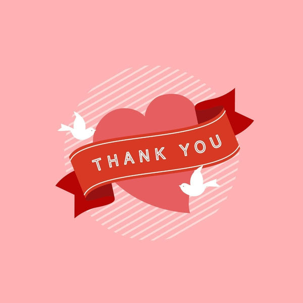 Thankyou Card - card - With Bling - M0009