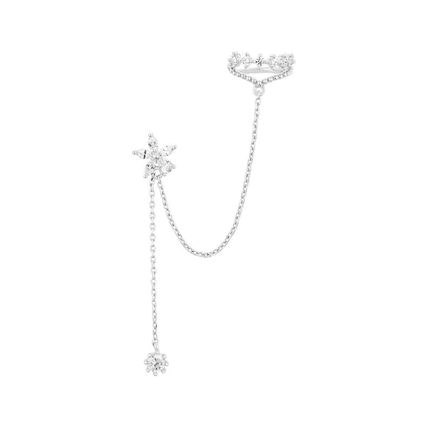 Flower Earring & Lace Cuff Set