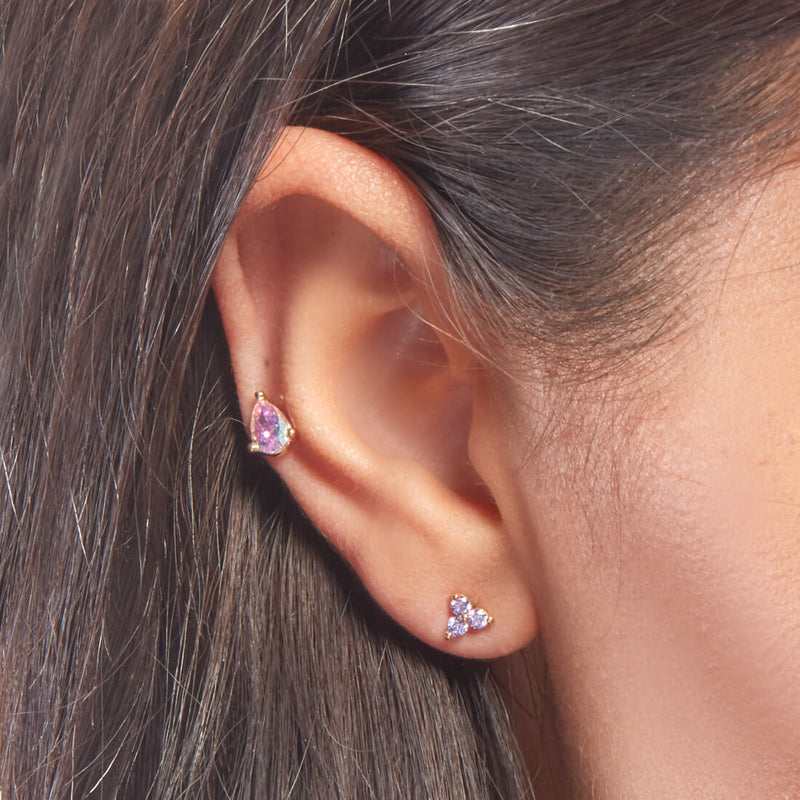 Purple 3-Petal Piercing