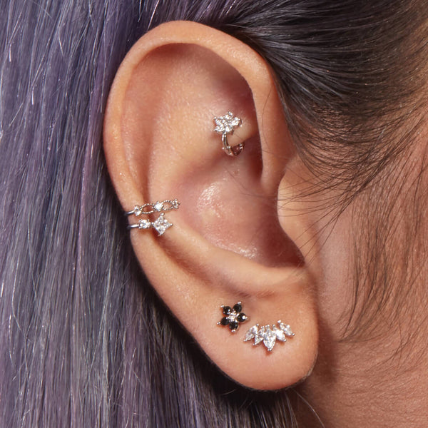 Crystal Tapered Piercing
