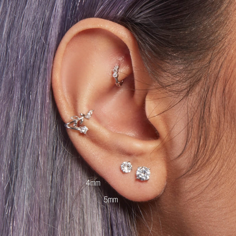 Simple CZ Crystal Barbell