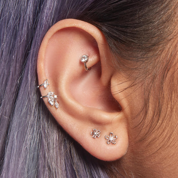 Hollow Flower Piercing