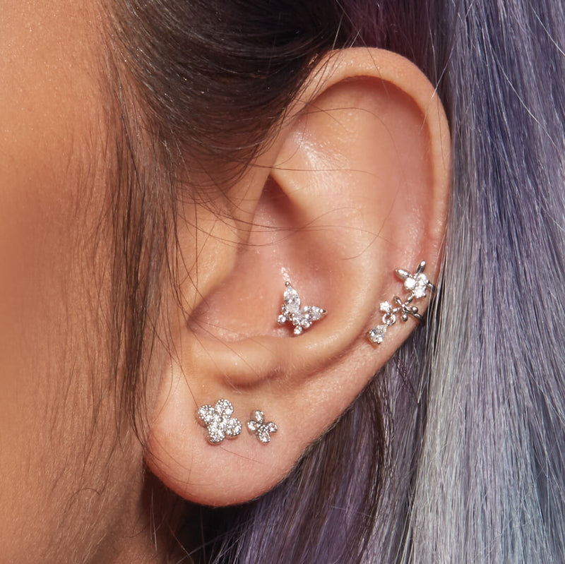 Crystal Butterfly Piercing