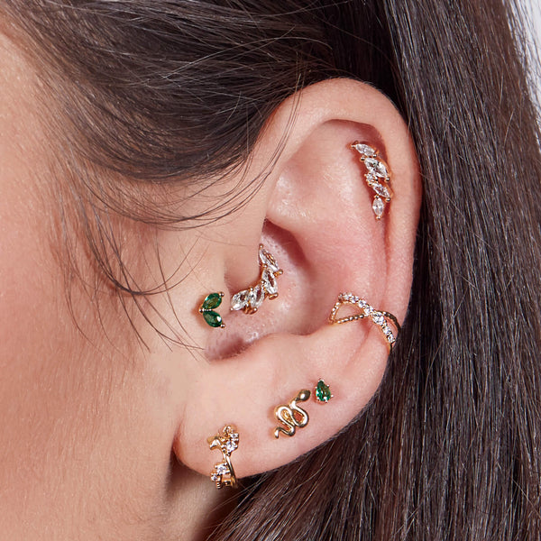Crystal Tapered Earring