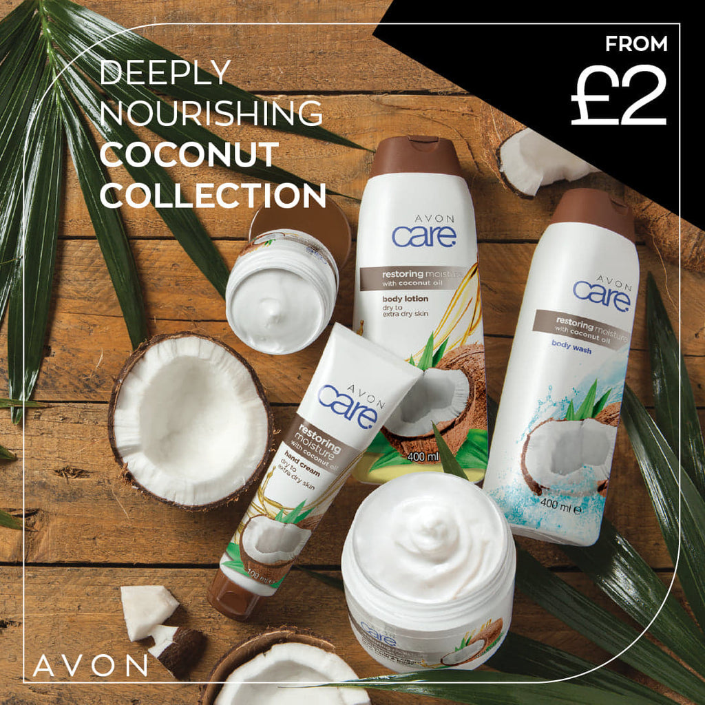 Avon Coconut Cream collection for soft hands