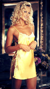 woman wearing buttercup colour chemise