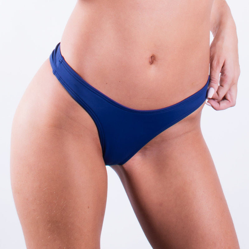 Navy Blue High Rise Cheeky Bottom