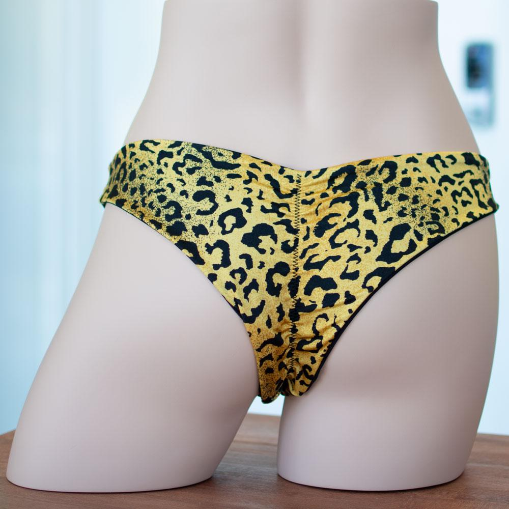 Leopard/Black Reversible Scrunched Bottom