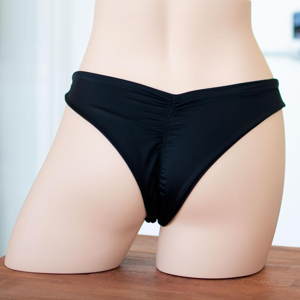 Black Reversible Scrunched Bottom - FJ SWIM