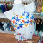 Starfish/White Reversible Halter Wrap Top - FJ SWIM