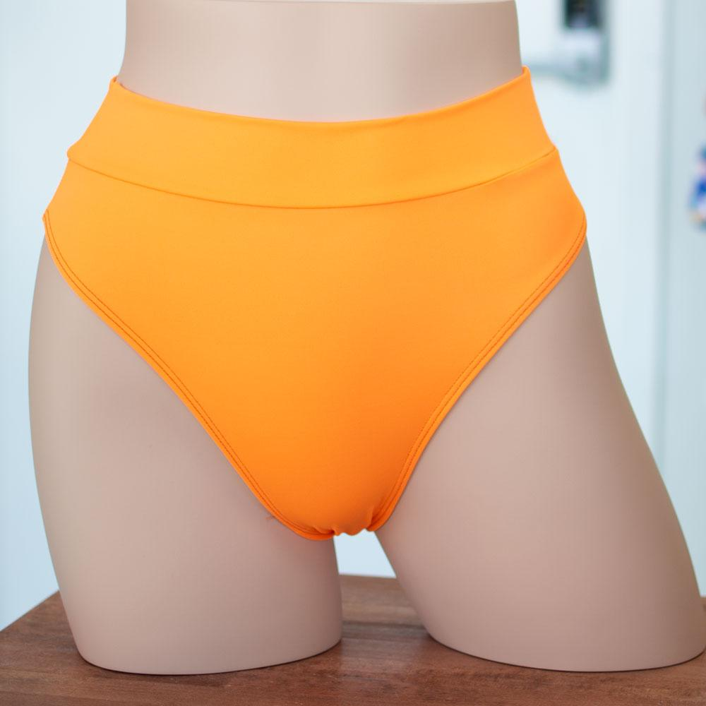 Cantaloupe High Rise/ High Waisted Bikini Bottom - FJ SWIM