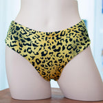 Leopard/Black Mid Rise Cheeky - Reversible