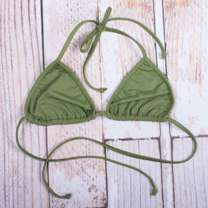 Cactus Green Triangle Top - FJ SWIM