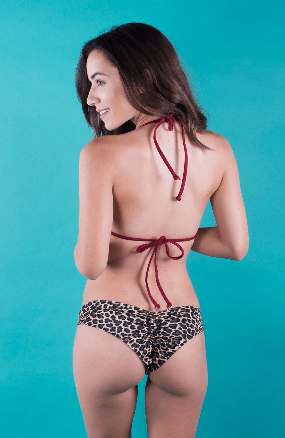Swimwear - Burgundy Triangle Top