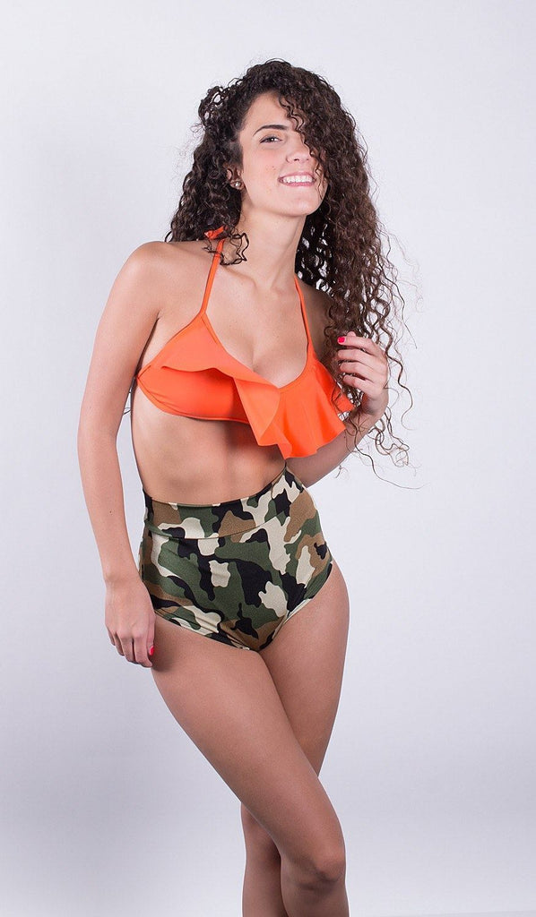 Camouflage High Waisted Bottom - FJ SWIM