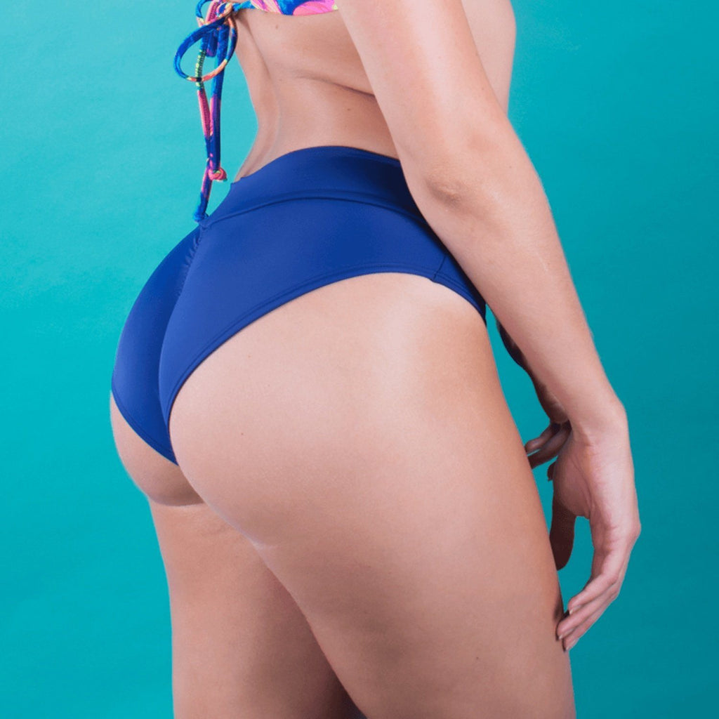 Navy Blue Full Coverage Bikini Bottom - FJ SWIM