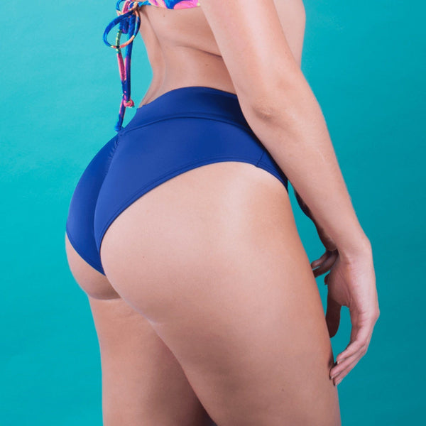 Swimwear - Navy Blue Full Coverage Bikini Bottom