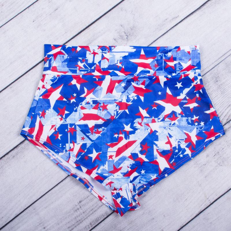 American Flag High Waisted Shorts - FJ SWIM