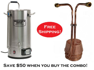 Brewer's Edge™ Mash and Boil with Pump + CuS.S. All-in-one TriCoil combo