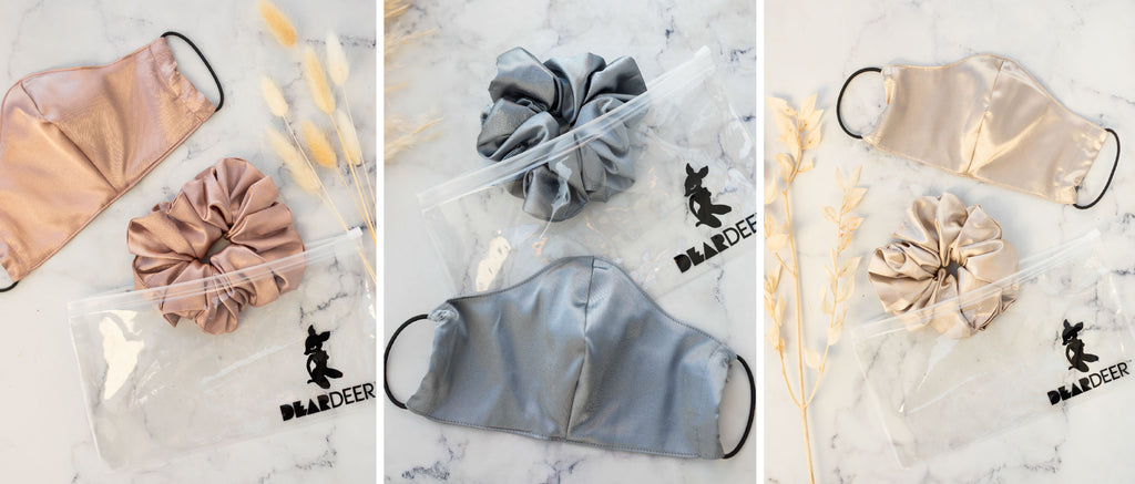 Dear Deer Satin Mask and Scrunchie Collection