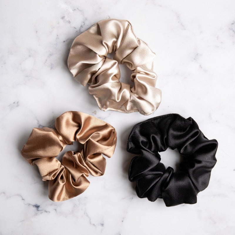 Pack of x3 scrunchies (coffee, Latte & black)