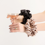 Super Sized Scrunchies (x2 pack - black & blush)