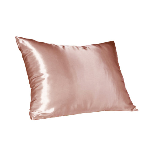 Rose Gold Satin Pillow Slip - Standard