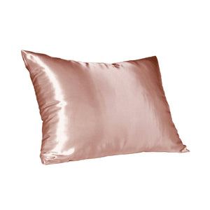 Load image into Gallery viewer, Rose Gold Satin Pillow Slip - Standard -  | Dear Deer -- retail, Shop Pink