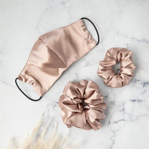 Super Sized Scrunchies (x2 pack - black & blush) - Scrunchie | Dear Deer -- retail, scrunchie