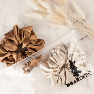 Load image into Gallery viewer, Super Sized Scrunchies (2pk - coffee & latte) - Wholesale - Wholesale | Dear Deer -- wholesale