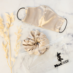 Latte Super Sized Scrunchie & Mask Set