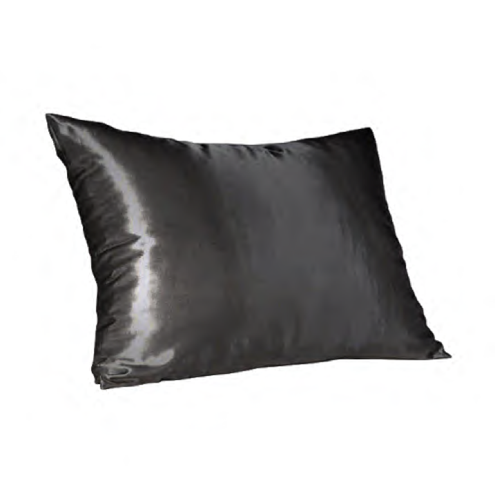 Dark Charcoal Satin Pillow Slip - Standard