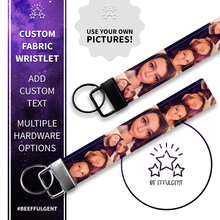 Load image into Gallery viewer, Design Your Own Photo Custom Key Fob Wristlet